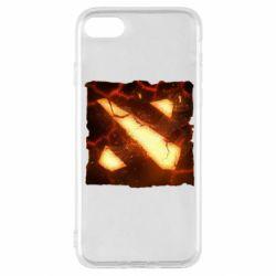 Чехол для iPhone SE 2020 Dota 2 Fire Logo