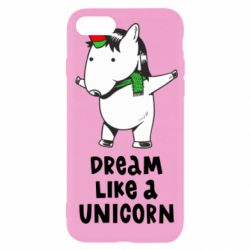 Чехол для iPhone SE 2020 Dream like a unicorn