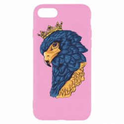 Чехол для iPhone SE 2020 Eagle with a crown on its head