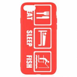 Чохол для iPhone SE 2020 Eat, sleep, fish