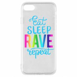 Чохол для iPhone SE 2020 Eat, sleep, RAVE, repeat