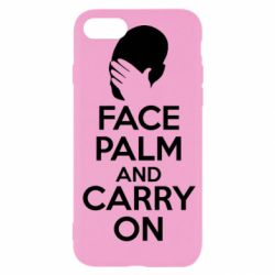 Чехол для iPhone SE 2020 Face palm and carry on