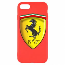 Чехол для iPhone SE 2020 Ferrari 3D Logo