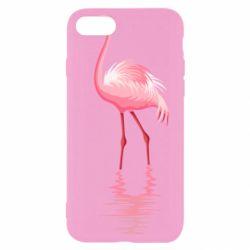 Чохол для iPhone SE 2020 Фламинго