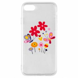 Чехол для iPhone SE 2020 Flowers and Butterflies