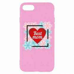 Чохол для iPhone SE 2020 Flowers Best mom
