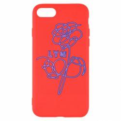 Чехол для iPhone SE 2020 Flowers line bts