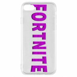 Чохол для iPhone SE 2020 Fortnite purple logo text