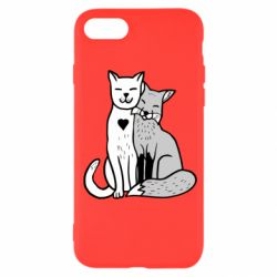 Чохол для iPhone SE 2020 Fox and cat heart