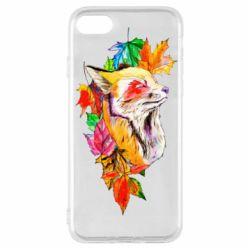 Чехол для iPhone SE 2020 Fox in autumn leaves