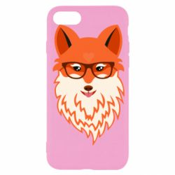 Чехол для iPhone SE 2020 Fox with a mole in the form of a heart