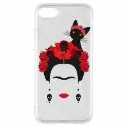 Чохол для iPhone SE 2020 Frida Kalo and cat