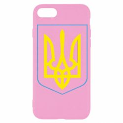 Чехол для iPhone SE 2020 Герб України з рамкою
