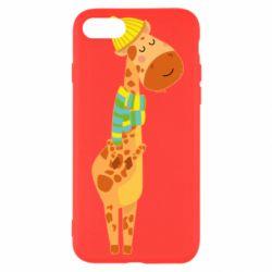 Чехол для iPhone SE 2020 Giraffe in a scarf
