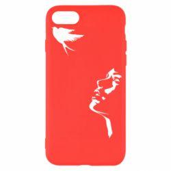 Чехол для iPhone SE 2020 Girl and bird