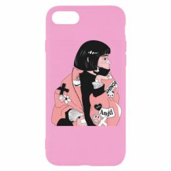 Чехол для iPhone SE 2020 Girl with a square