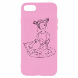 Чехол для iPhone SE 2020 Girl with a toy bunny