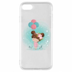 Чехол для iPhone SE 2020 Girl with balloons