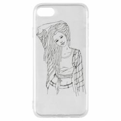 Чехол для iPhone SE 2020 Girl with dreadlocks