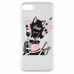 Чехол для iPhone SE 2020 Girl with katanas