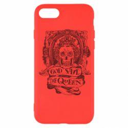 Чехол для iPhone SE 2020 God save the queen monochrome