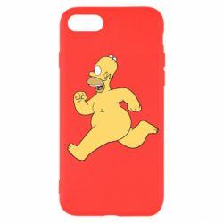Чехол для iPhone SE 2020 Голый Гомер Симпсон