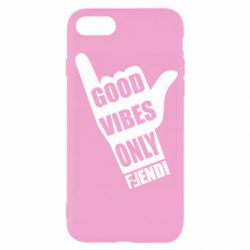 Чохол для iPhone SE 2020 Good vibes only Fendi