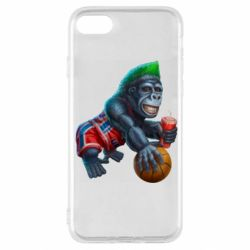 Чохол для iPhone SE 2020 Gorilla and basketball ball