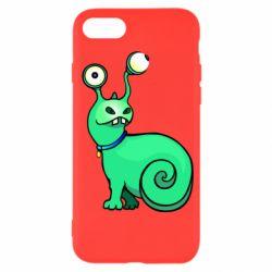 Чехол для iPhone SE 2020 Green monster snail