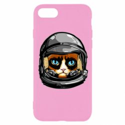 Чехол для iPhone SE 2020 Grumpy Cat Astronaut