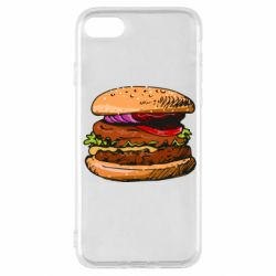 Чехол для iPhone SE 2020 Hamburger hand drawn vector