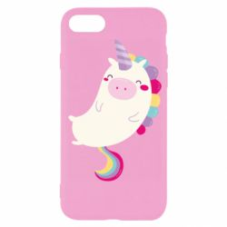 Чехол для iPhone SE 2020 Happy color unicorn