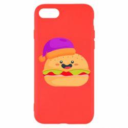 Чехол для iPhone SE 2020 Happy hamburger