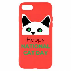 Чехол для iPhone SE 2020 Happy National Cat Day