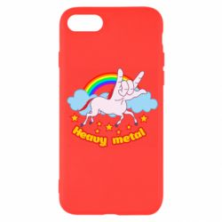 Чехол для iPhone SE 2020 Heavy metal unicorn