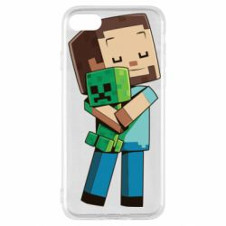 Чехол для iPhone SE 2020 Heroes from Minecraft
