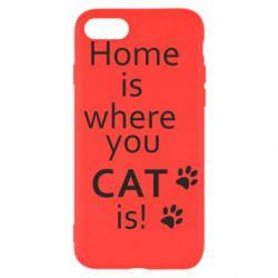 Чехол для iPhone SE 2020 Home is where your Cat is!