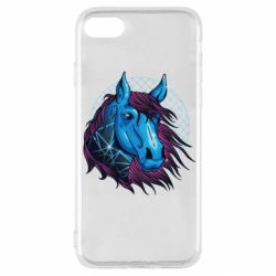 Чехол для iPhone SE 2020 Horse and neon color