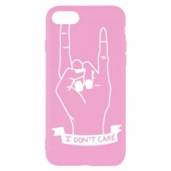 Чехол для iPhone SE 2020 I don't care 1