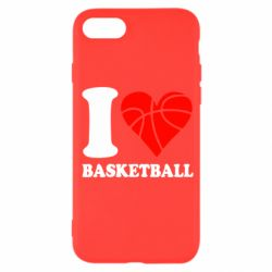 Чехол для iPhone SE 2020 I love basketball