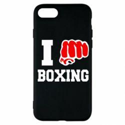 Чехол для iPhone SE 2020 I love boxing