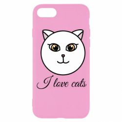 Чохол для iPhone SE 2020 I love cats art