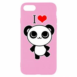 Чохол для iPhone SE 2020 I love Panda