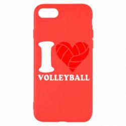 Чохол для iPhone SE 2020 I love volleyball