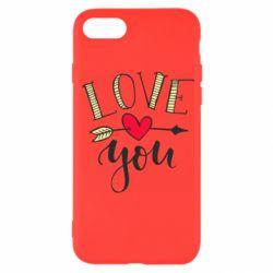 Чохол для iPhone SE 2020 I love you and heart