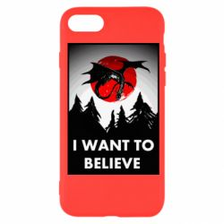 Чехол для iPhone SE 2020 I want to BELIEVE poster