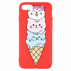 Чехол для iPhone SE 2020 Ice cream kittens