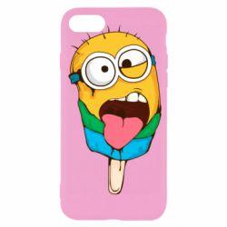 Чехол для iPhone SE 2020 Ice cream minions