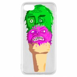 Чехол для iPhone SE 2020 Ice cream with face