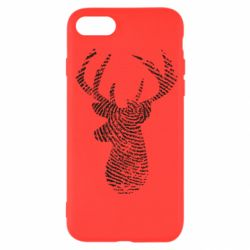 Чохол для iPhone SE 2020 Imprint of human skin in the form of a deer